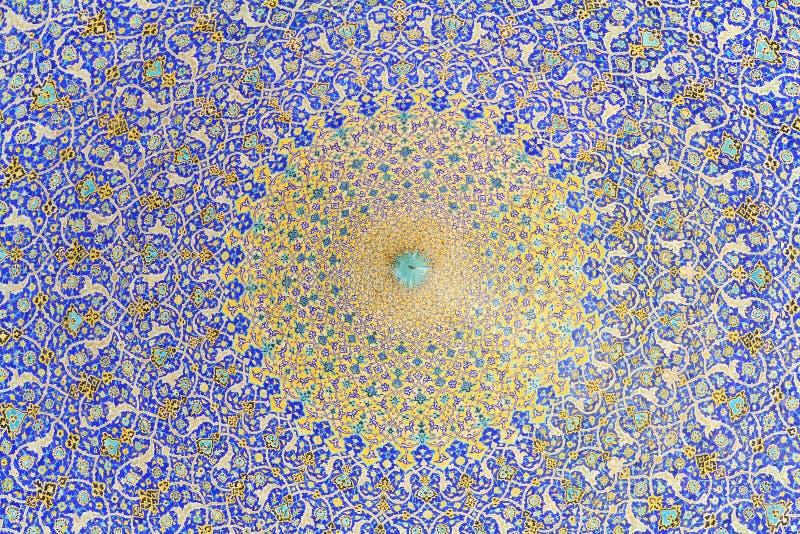 Abóbada da mesquita, Esfahan, Irã foto de stock
