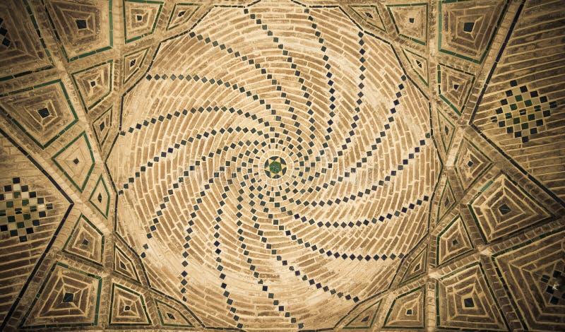 Abóbada da mesquita, ornamento orientais, Isfahan imagens de stock royalty free