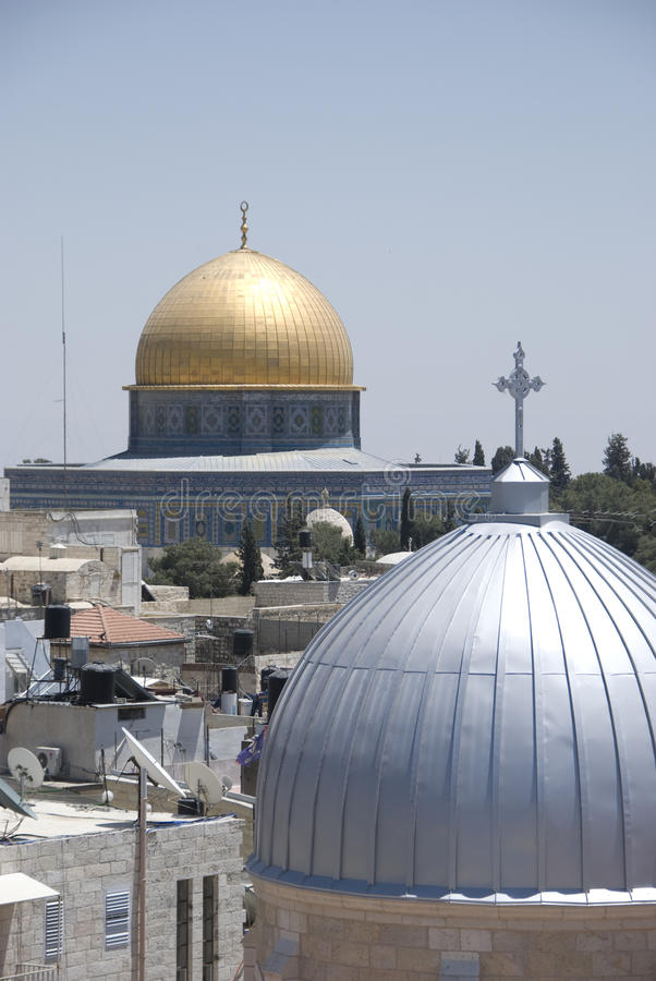 Abóbada da rocha, Jerusalem foto de stock royalty free