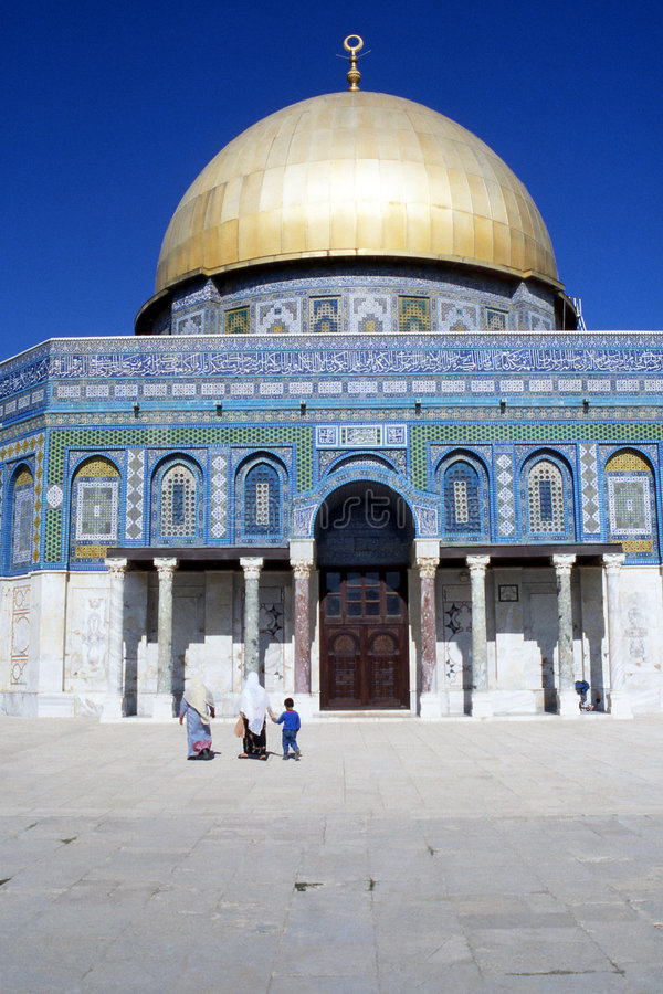 A abóbada da rocha - Jerusalem imagem de stock royalty free