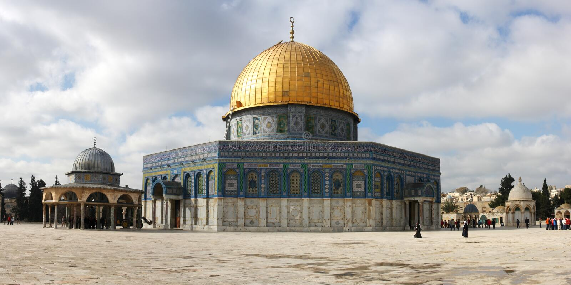 Abóbada da rocha no Jerusalém foto de stock royalty free