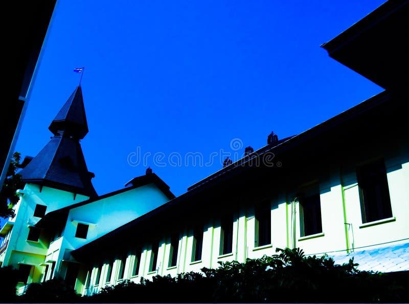Abóbada da universidade de Thammasat, Banguecoque, Tailândia fotos de stock royalty free