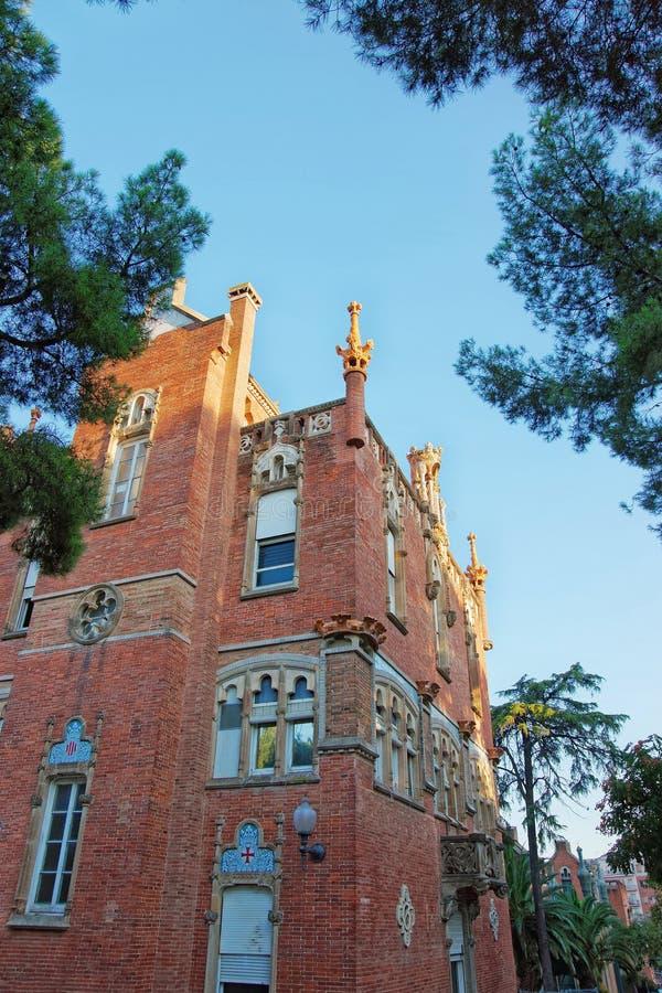 Abóbada de antigo Hospital de Sant Pau em Barcelona fotos de stock royalty free