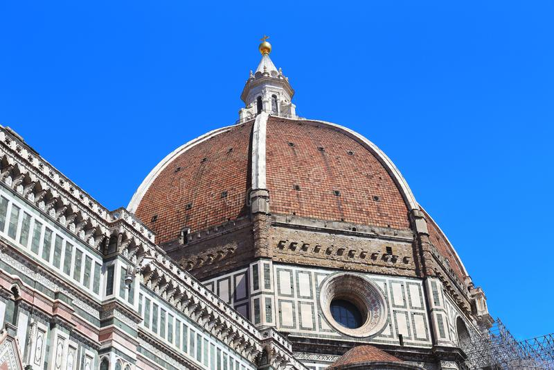 Abóbada de Brunelleschi, Florença fotografia de stock