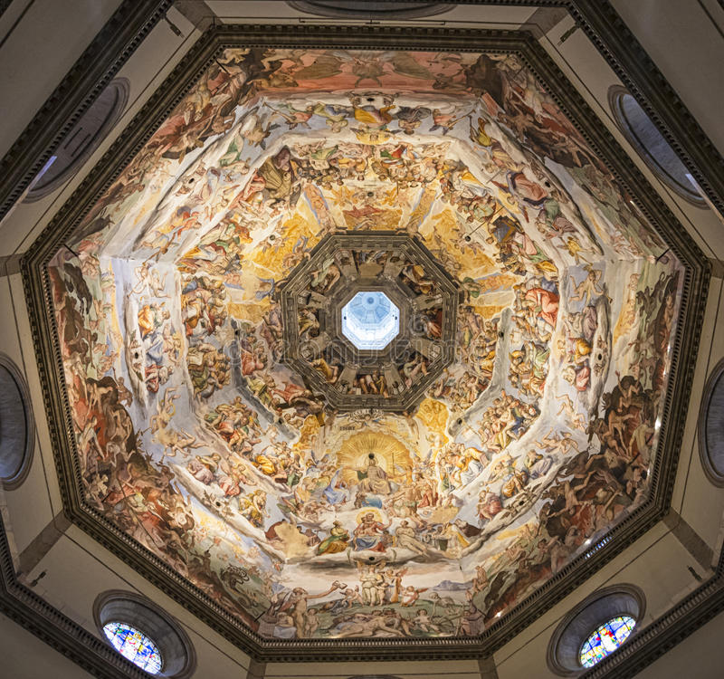 Abóbada de Florence Brunelleschi imagem de stock royalty free