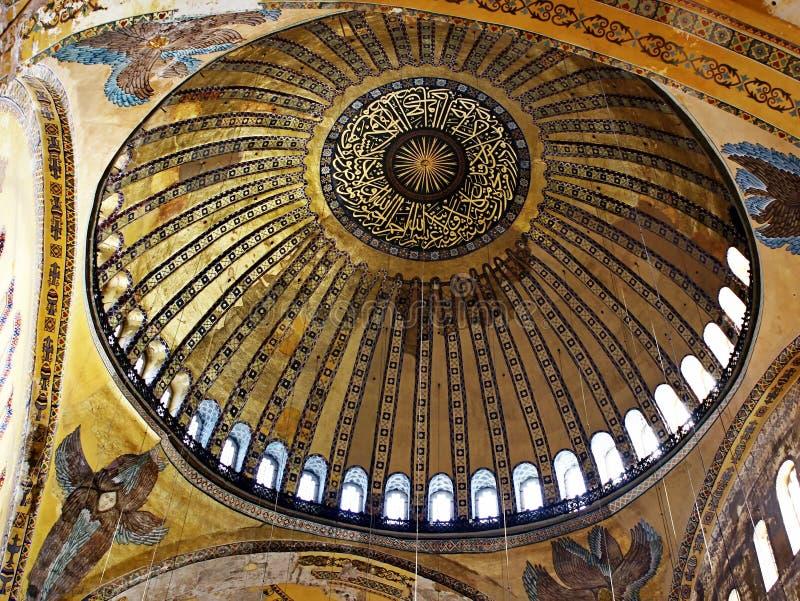 Abóbada de Hagia Sophia fotos de stock royalty free