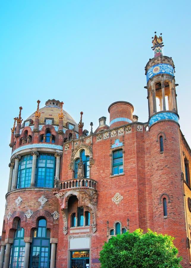 Abóbada de Hospital de Sant Pau em Barcelona fotografia de stock royalty free
