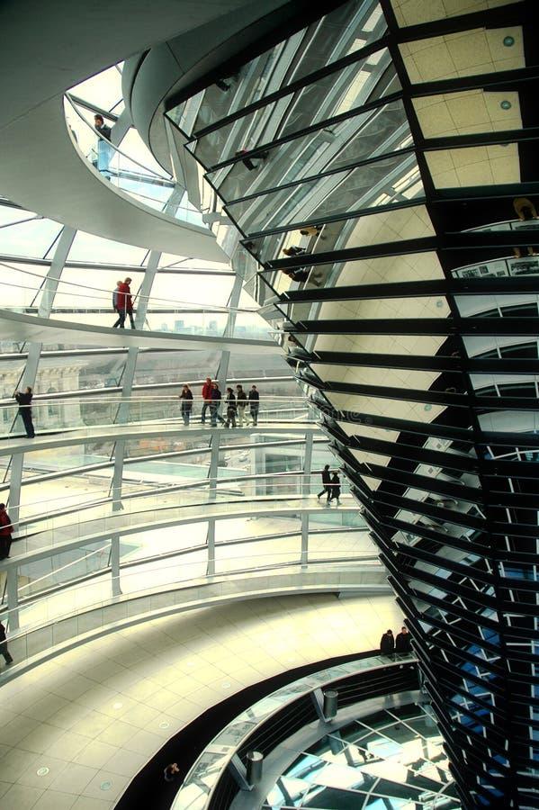 Abóbada de Reichstag - Berlim fotos de stock