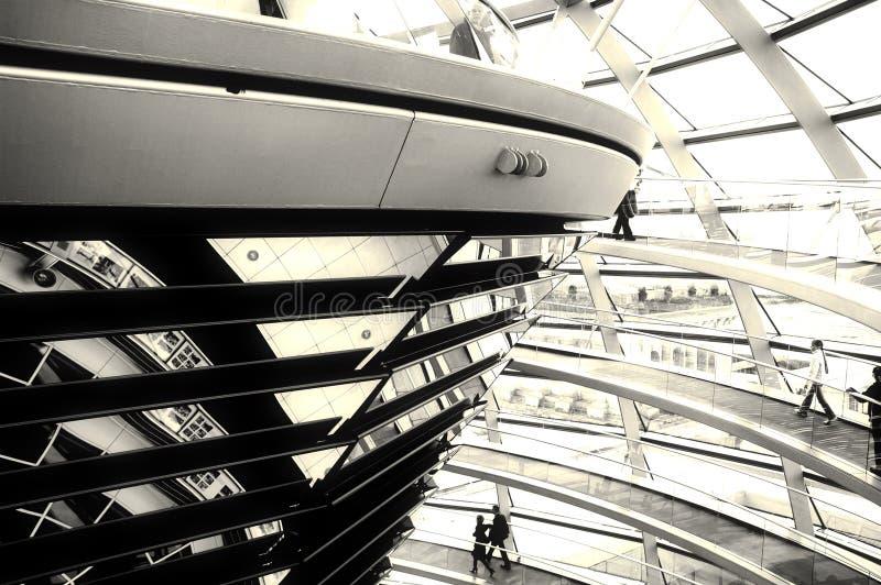 Abóbada de Reichstag - Berlim imagem de stock