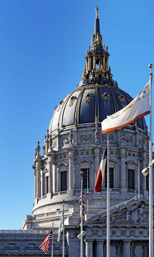 Abóbada de San Francisco City Hall fotografia de stock