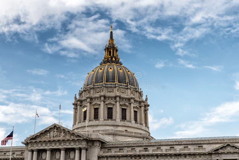 A abóbada de San Francisco City Hall imagem de stock royalty free