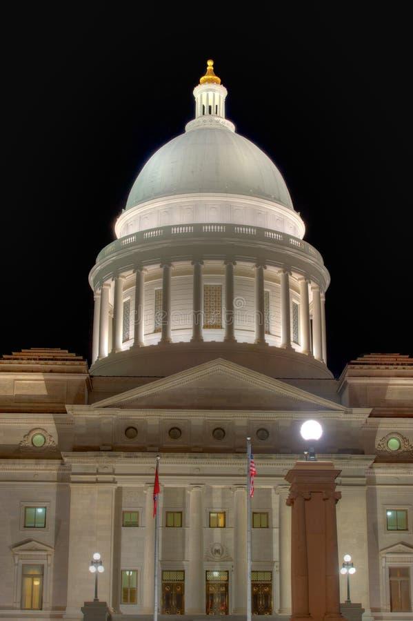 Abóbada do Capitólio do estado de Arkansas foto de stock