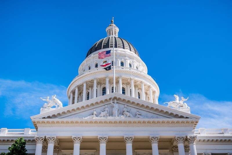 A abóbada do Capitólio do estado de Califórnia foto de stock royalty free