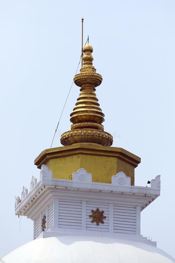 Abóbada do fim do pagode da paz de mundo acima da vista fotos de stock