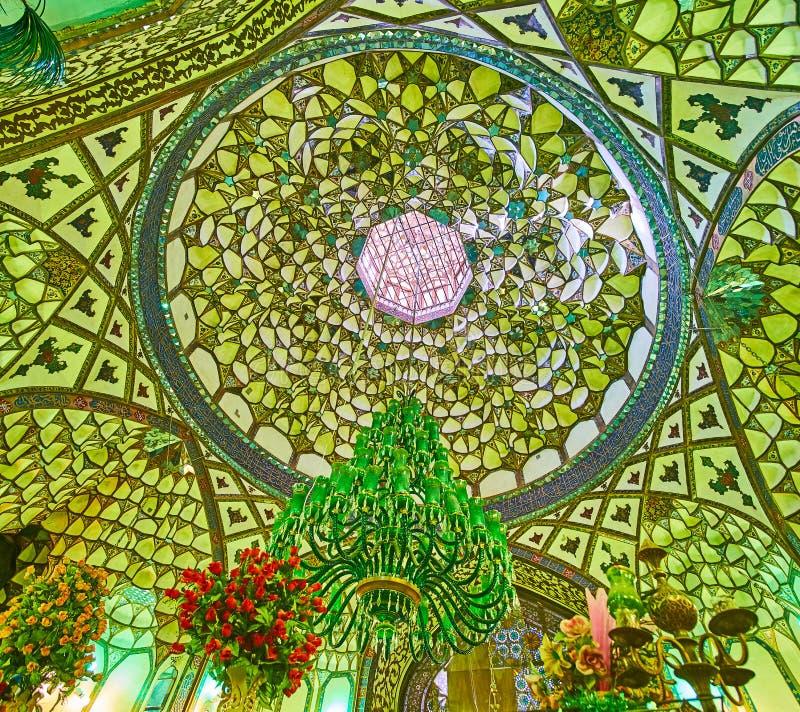A abóbada do mausoléu de Shafti, Isfahan, Irã imagem de stock royalty free