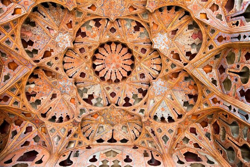 Abóbada do palácio de Ali Qapu, Esfahan, Irã fotos de stock