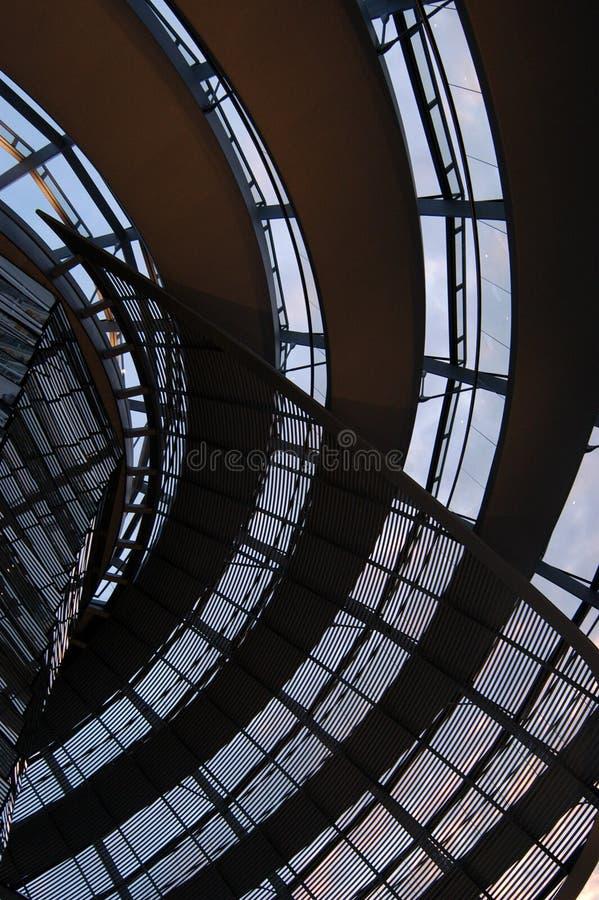 Abóbada do Reichstag imagem de stock