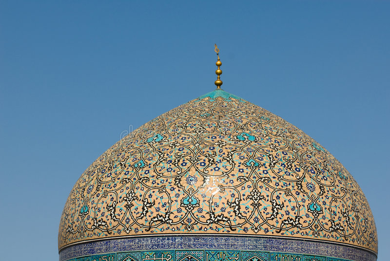 Abóbada do Sheikh Lotf Allah Mesquita imagens de stock