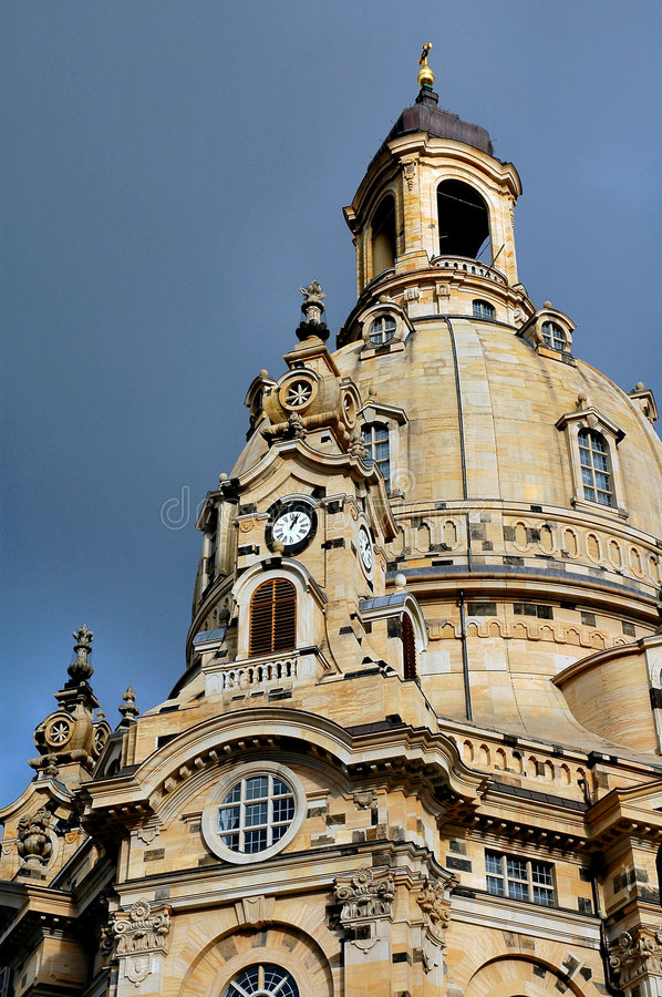 Abóbada e Steeple de Frauenkircke fotos de stock royalty free