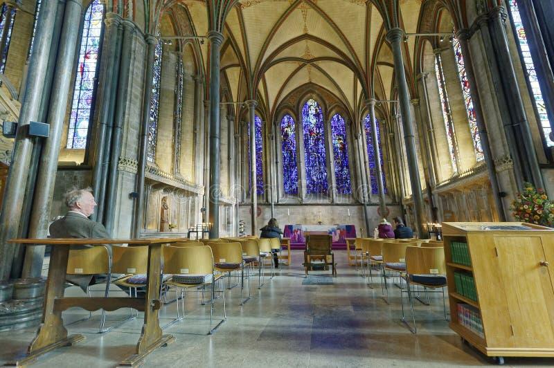 Abóbada e teto da catedral de Winchester Adora??o quieta Vis?o de longo prazo Arquitetura majestosa imagens de stock royalty free