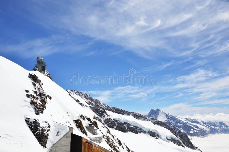 Abóbada em Jungfrau, montanha da esfinge fotos de stock
