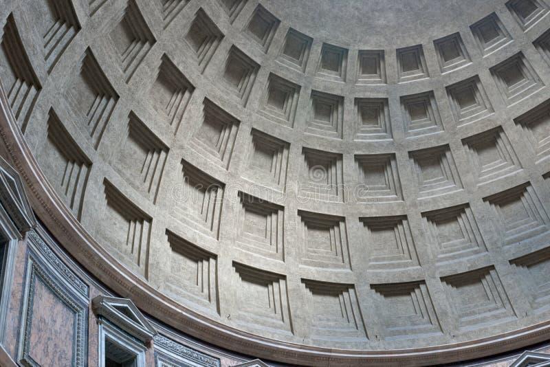 Abóbada interior do panteão, Roma, Italy fotos de stock royalty free