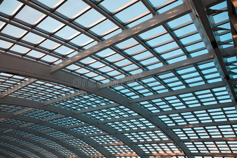 Abóbada moderna do vidro da arquitetura foto de stock