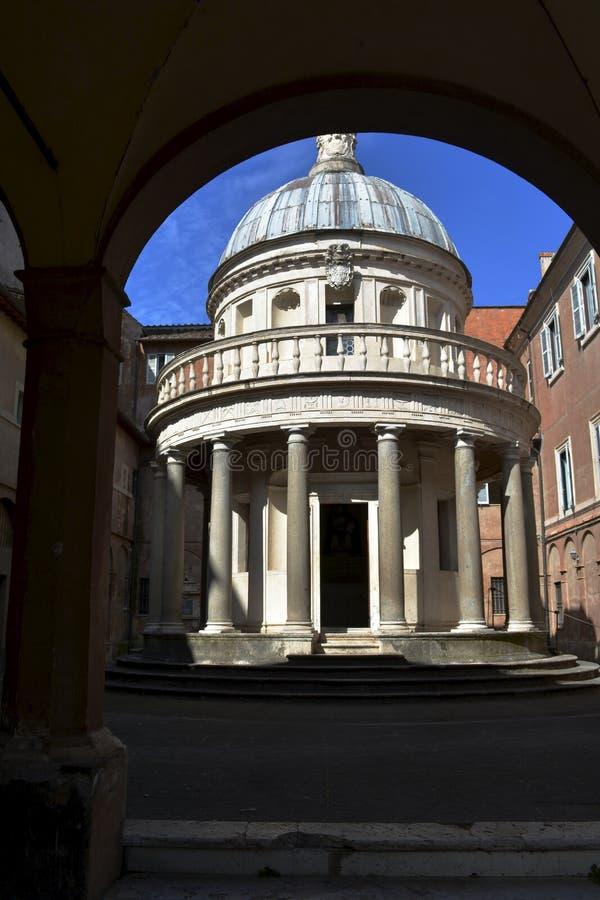 Abóbada pequena da igreja, Roma, Itália fotografia de stock