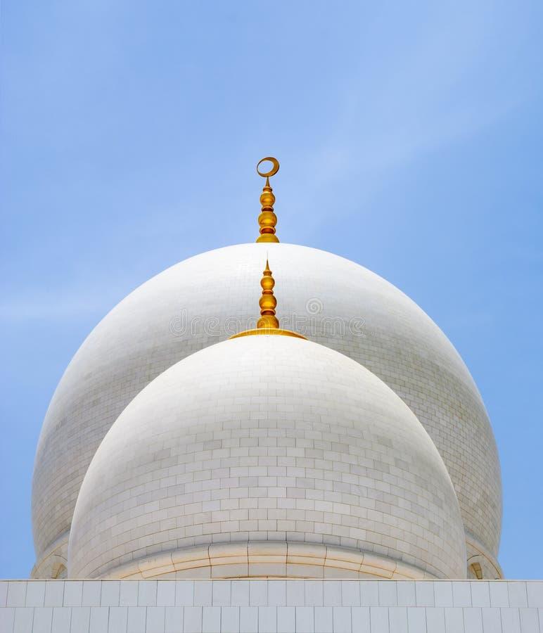 Abóbadas brancas da mesquita fotografia de stock