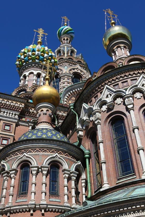 Abóbadas da catedral Termas-na-krovi. foto de stock royalty free
