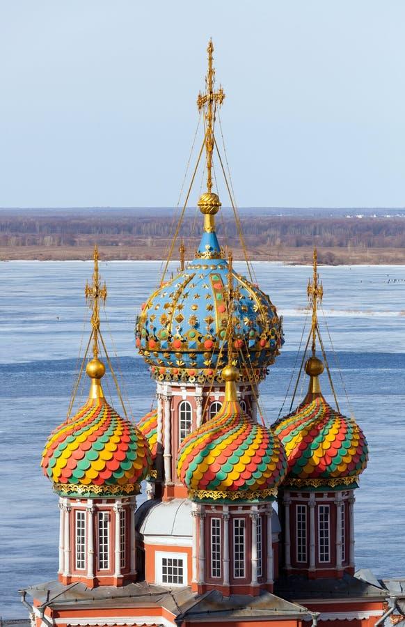 Abóbadas da igreja ortodoxa fotos de stock royalty free