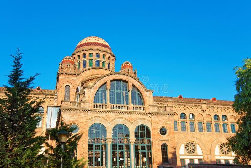 Abóbadas de Hospital de Sant Pau em Barcelona imagem de stock