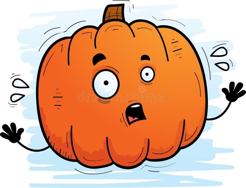 Abóbora assustado dos desenhos animados ilustração do vetor