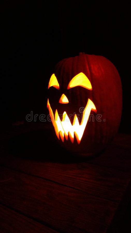 Abóbora cinzelada de Halloween foto de stock