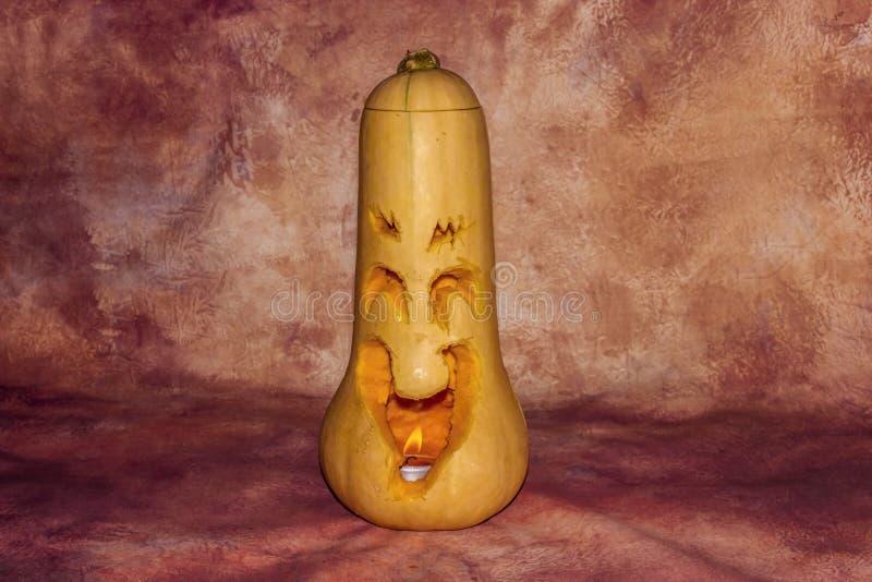 Abóbora cinzelada de Halloween imagens de stock