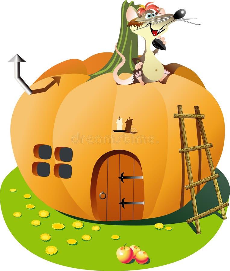 Abóbora da casa ilustração stock
