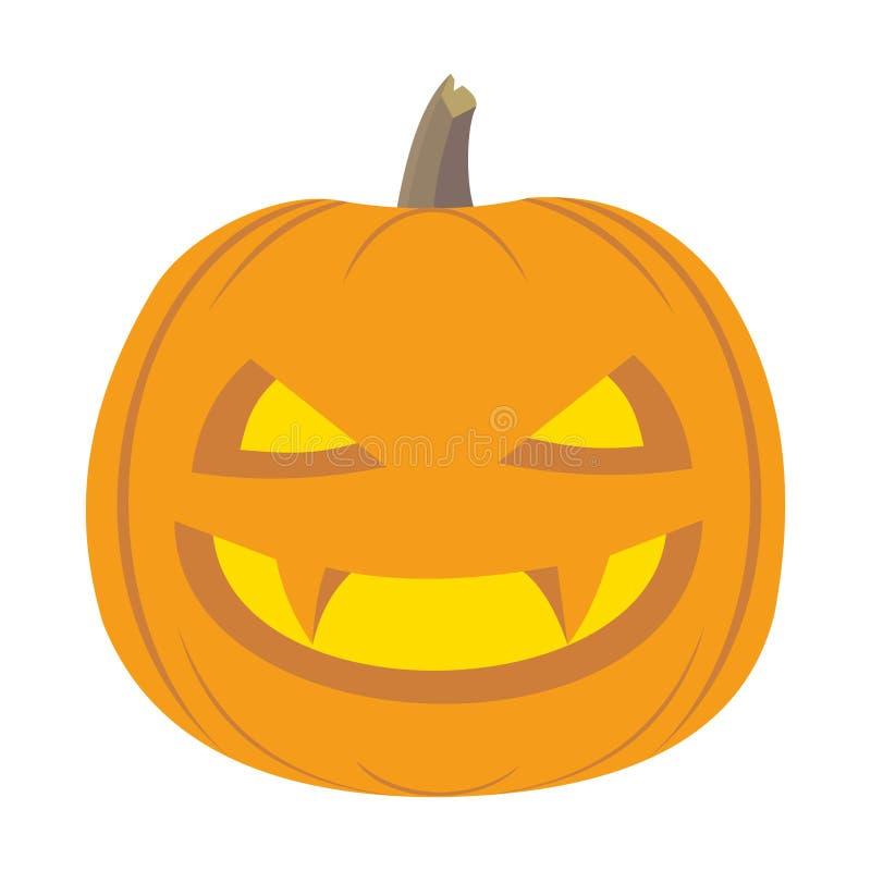 Abóbora de Halloween ilustração do vetor
