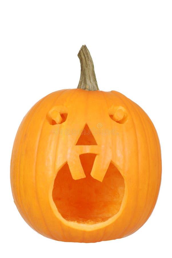 Abóbora de Halloween com dois dentes fotos de stock royalty free