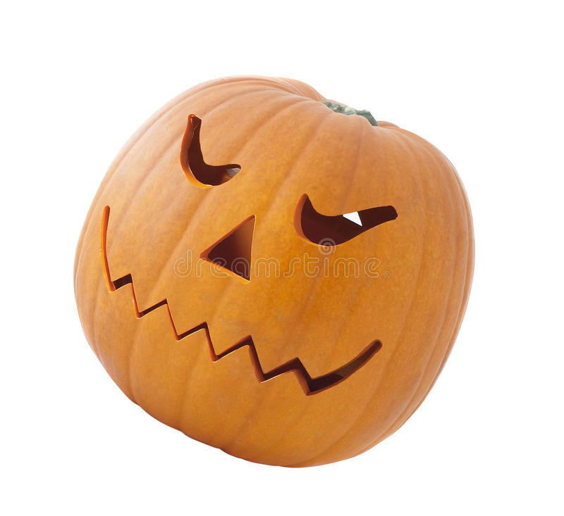 Abóbora de Halloween isolada fotografia de stock royalty free
