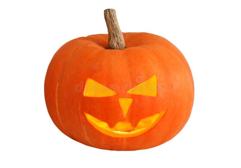 Abóbora de Halloween isolada no fundo branco fotografia de stock royalty free
