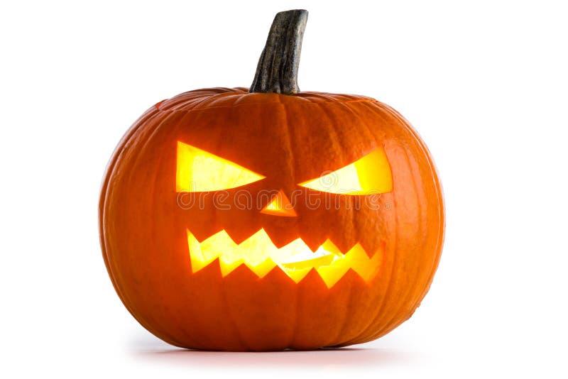 Abóbora de Halloween no branco imagens de stock
