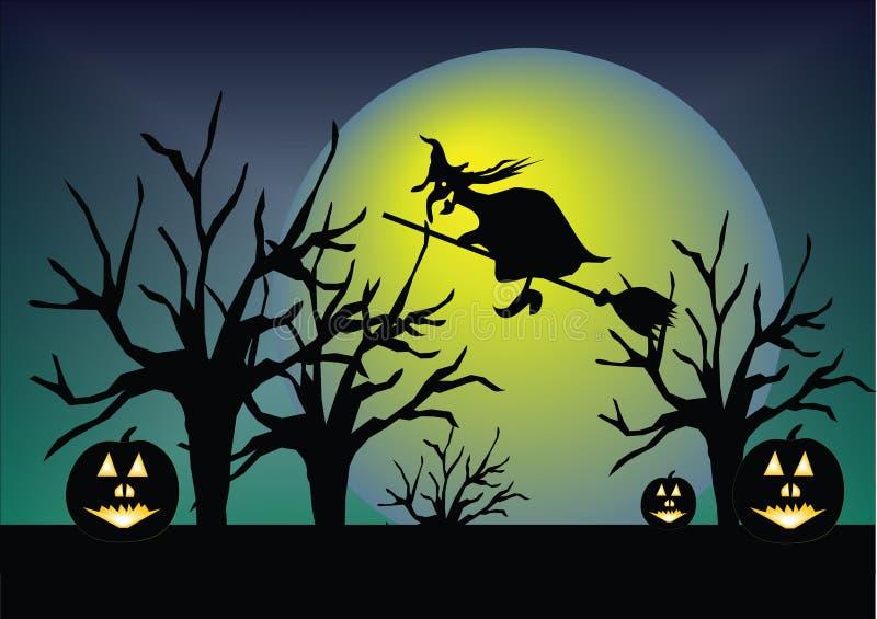Abóbora de Hallowen ilustração royalty free