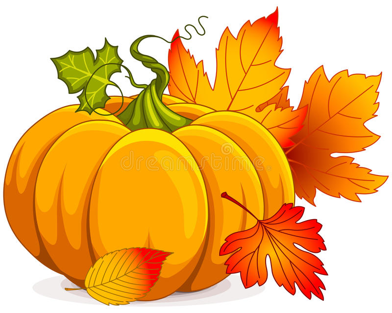 Abóbora de outono ilustração stock