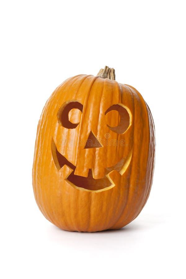 Abóbora de sorriso de Halloween foto de stock