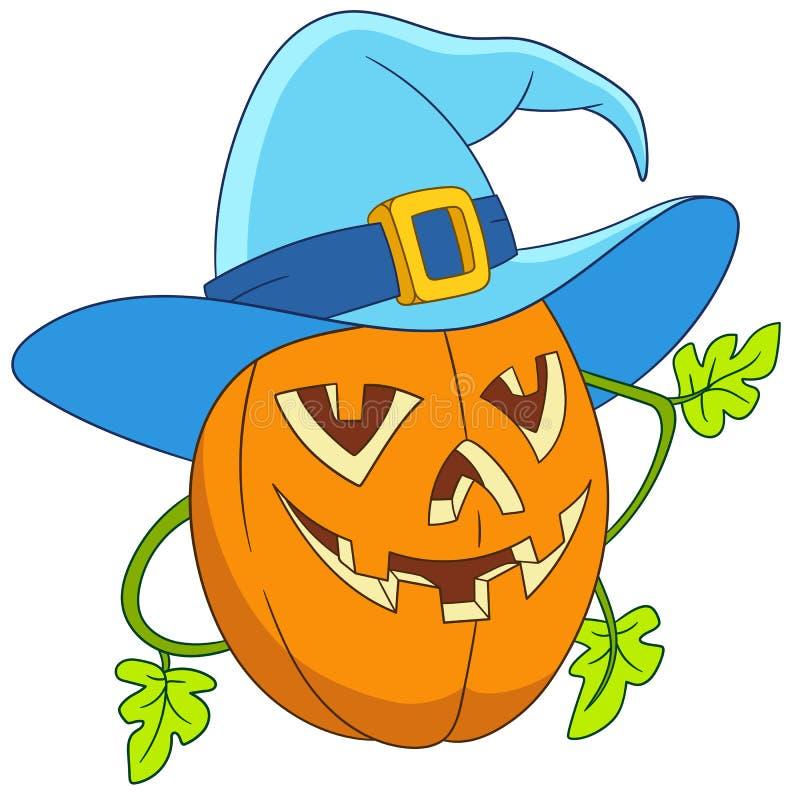 Abóbora em Halloween ilustração do vetor