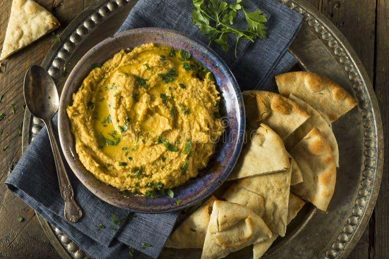 Abóbora grega caseiro Hummus foto de stock