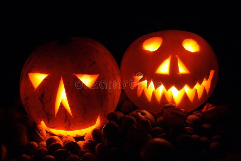 Abóboras de Halloween fotografia de stock