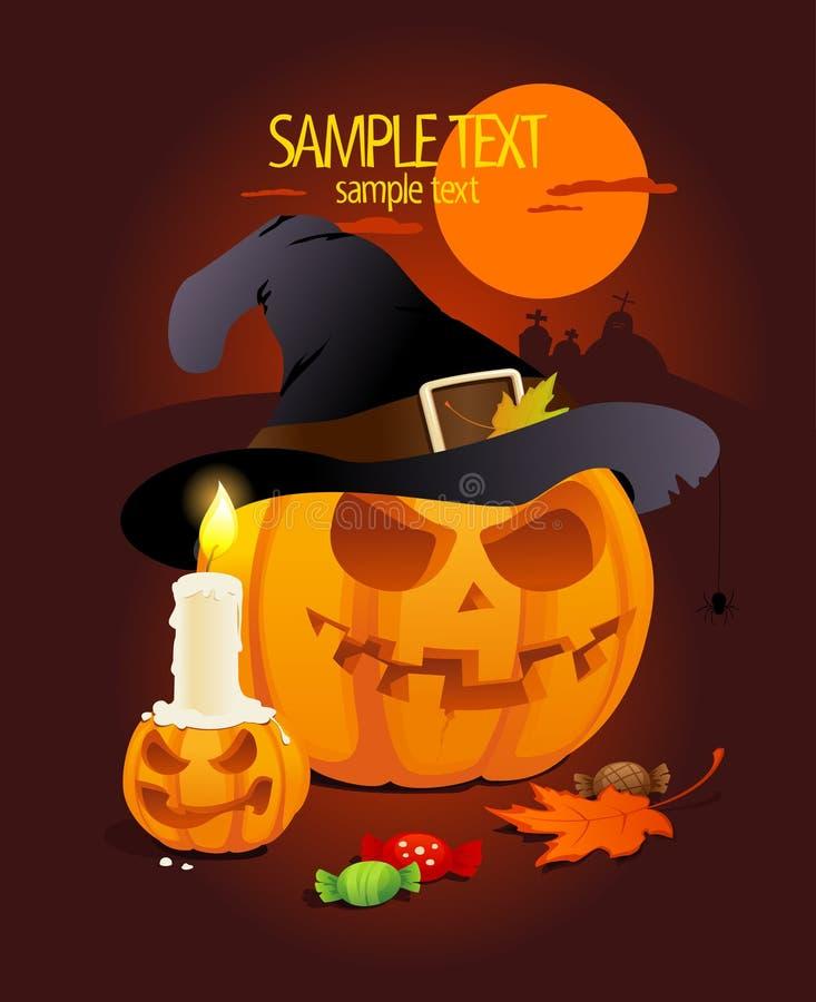 Abóboras de Halloween. ilustração stock