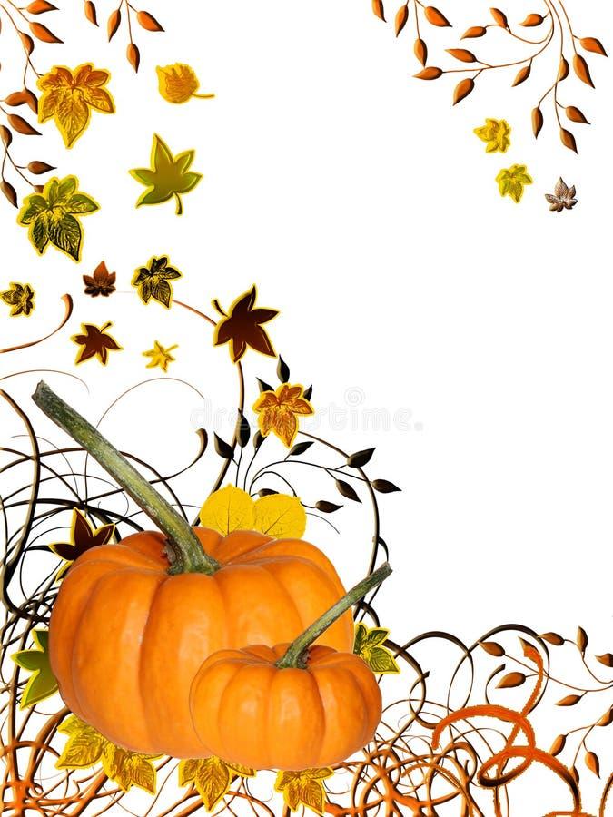 Abóboras de outono ilustração stock