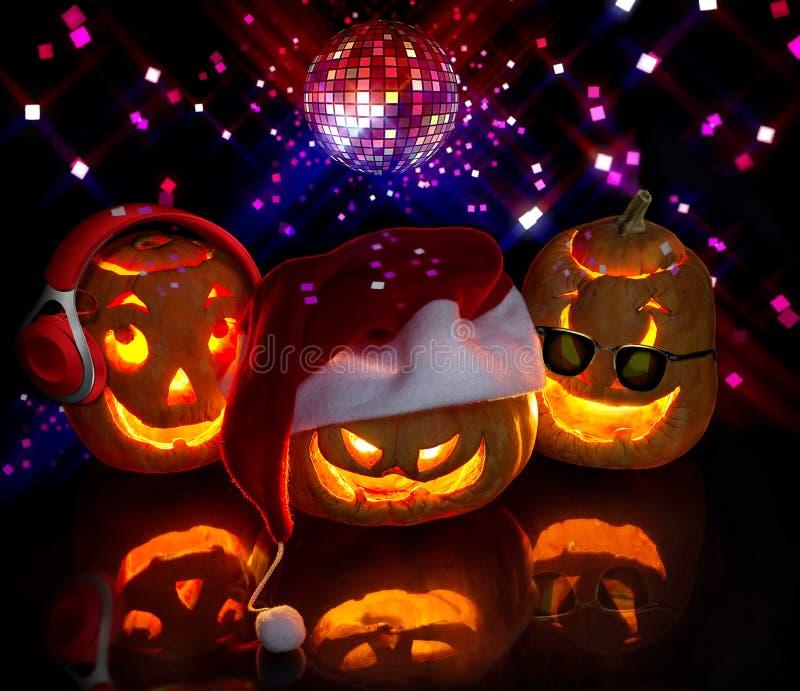 Abóboras engraçadas de Halloween foto de stock royalty free